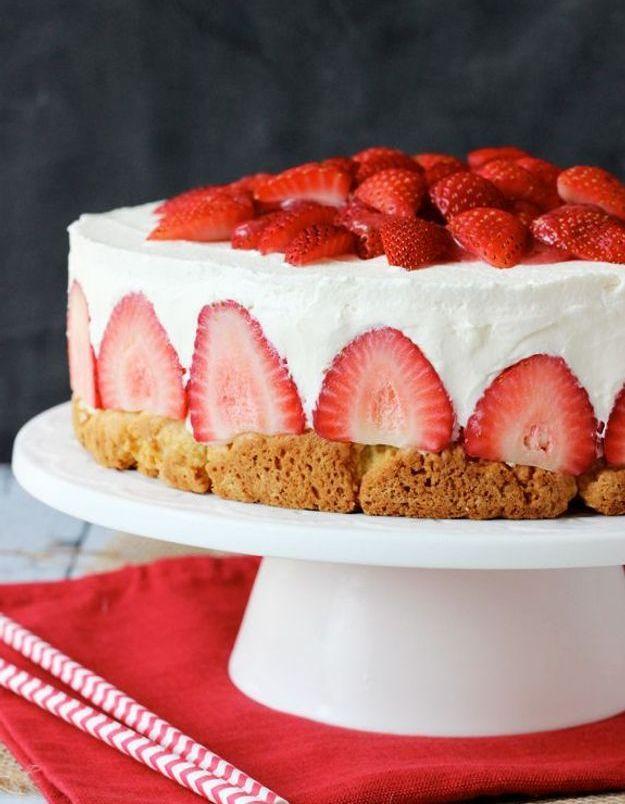 Cheesecake fraisier
