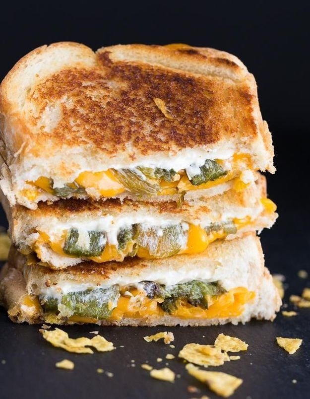 Grilled cheese cheddar jalapeno