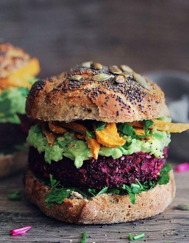 Junk food healthy : Burger végétarien à la betterave