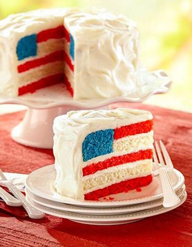 Gâteau drapeau USA