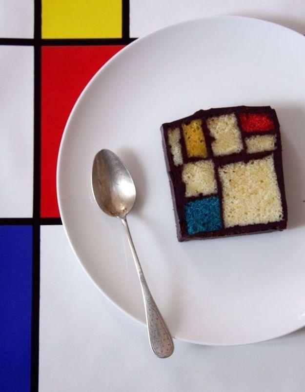 Le gâteau Mondrian