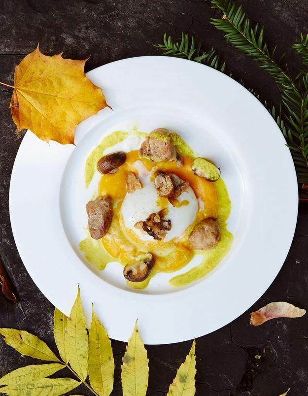 Menu gastronomique automne