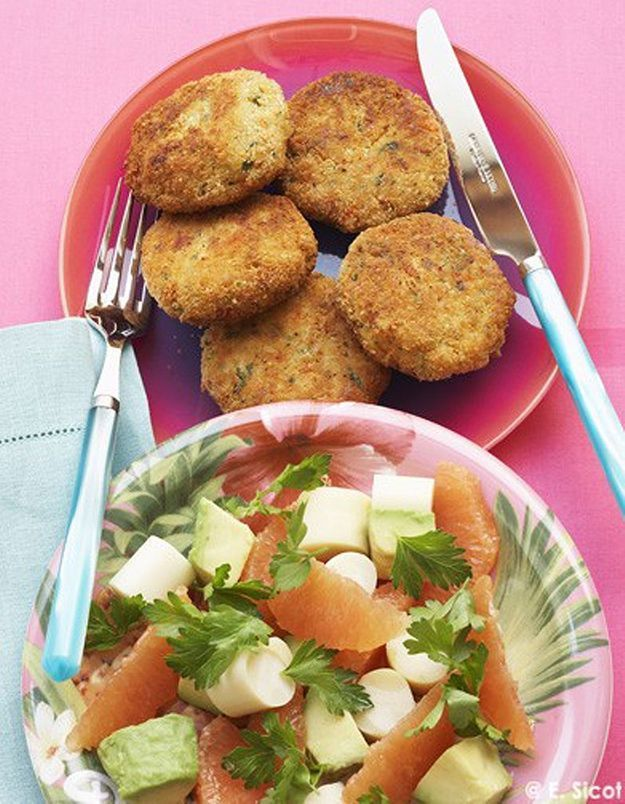 Crabcakes et salade