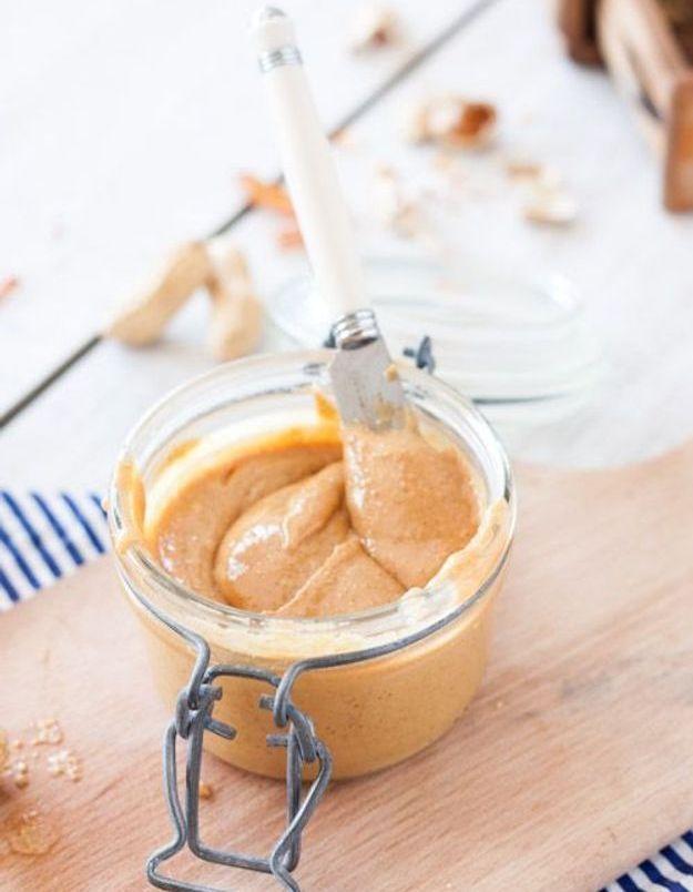 Pâte à tartiner healthy et vegan beurre de cacahuètes