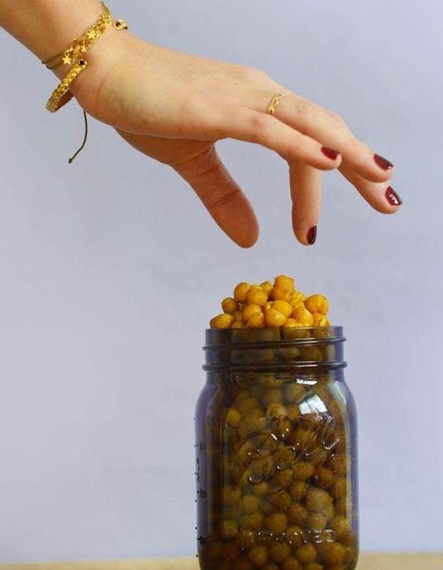 Plateau léger : Pois chiches croustillants aux épices