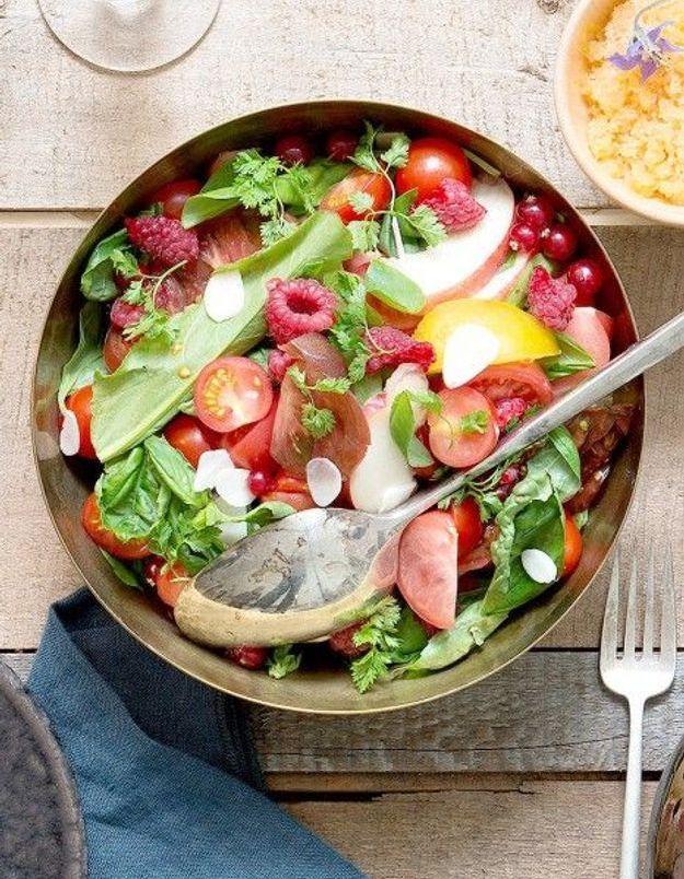 Salade de tomates et fruits