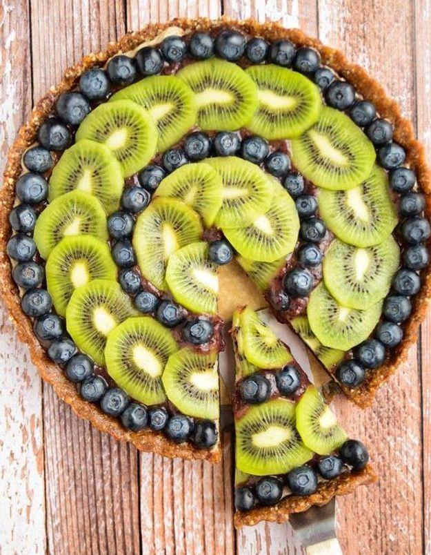 Tarte myrtilles kiwi