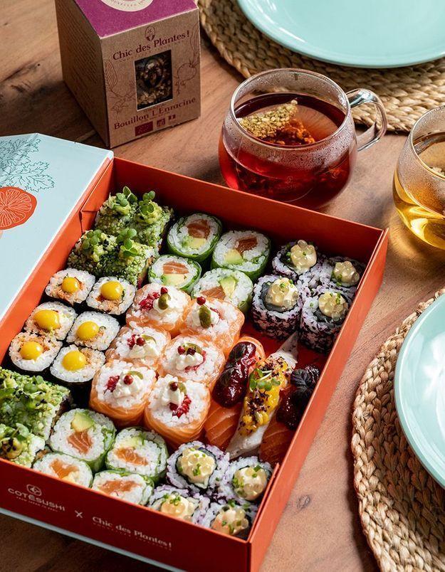 #ELLEFoodCrush : la box printanière de Côté Sushi x Chic des plantes !