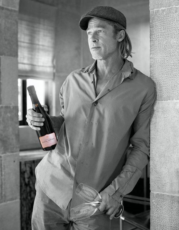 EXCLU Brad Pitt dévoile «Fleur de Miraval», son champagne rosé