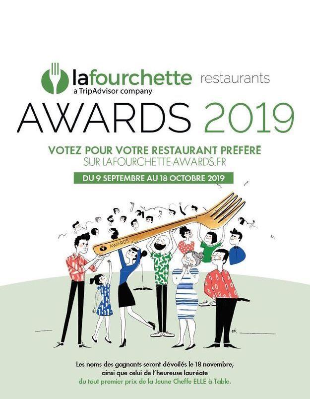LaFourchette Restaurants Awards x ELLE à table : votez pour la révélation food 2019 !