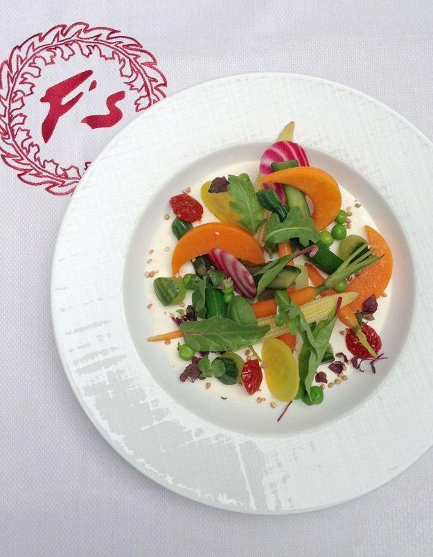 Le menu gastronomique « sans gluten » du Fouquet's