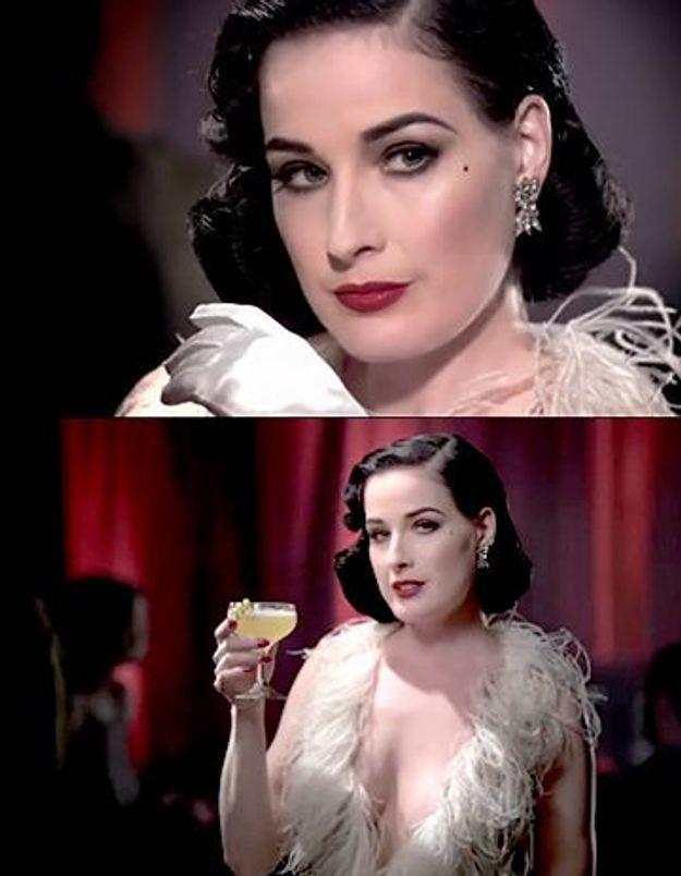 Margarita, Cosmo : à chaque cocktail sa Dita Von Teese