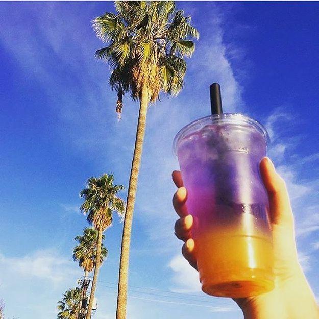 Orange yuzu, la boisson arc en ciel qui affole Instagram