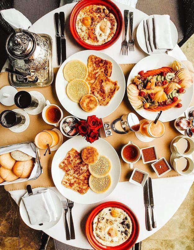On mange quoi au petit-déjeuner au Maroc ?