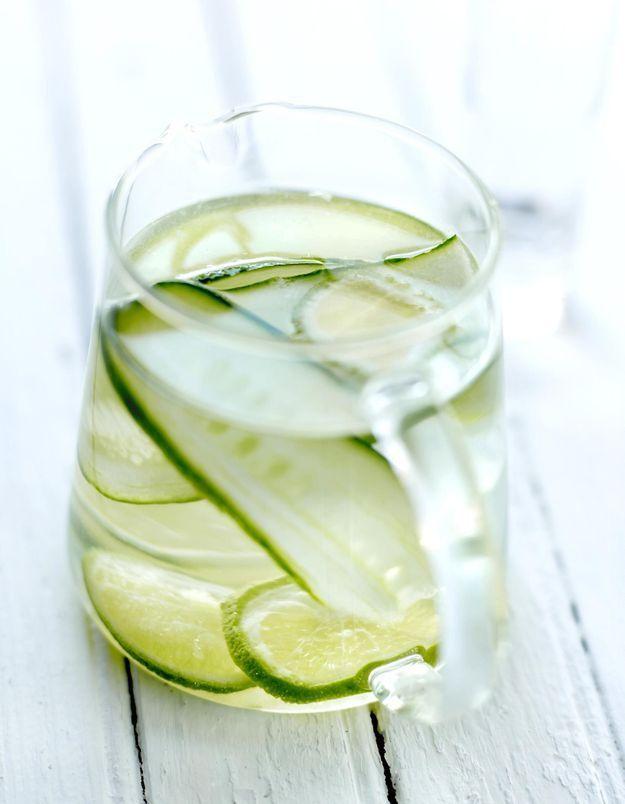 Agua fresca concombre et citron vert