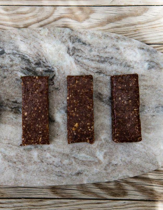 Barre amande datte et cacao