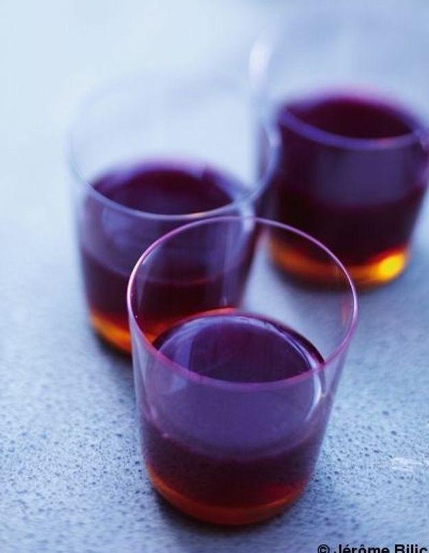 Cocktail whisky et jus de grenade