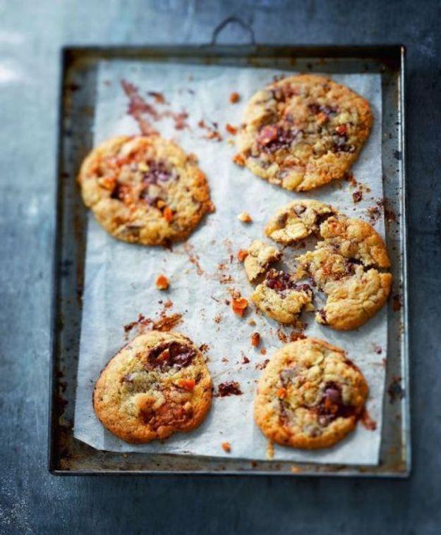Cookies chocolat noir et nougatine sésame-amande
