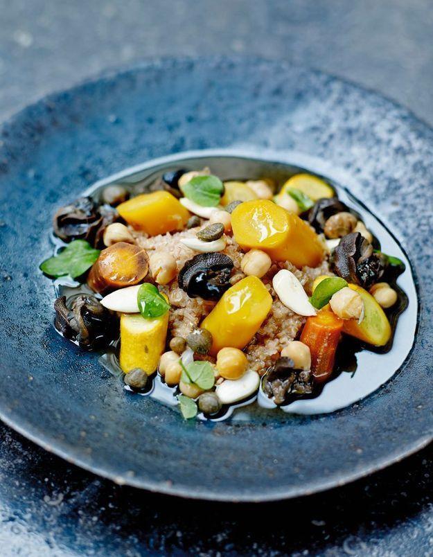 Couscous d'épeautre aux escargots