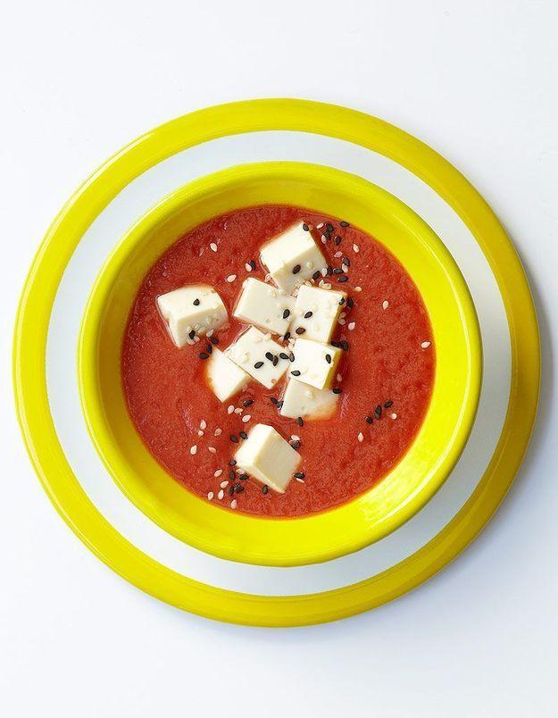 Crème de tomate au tofu