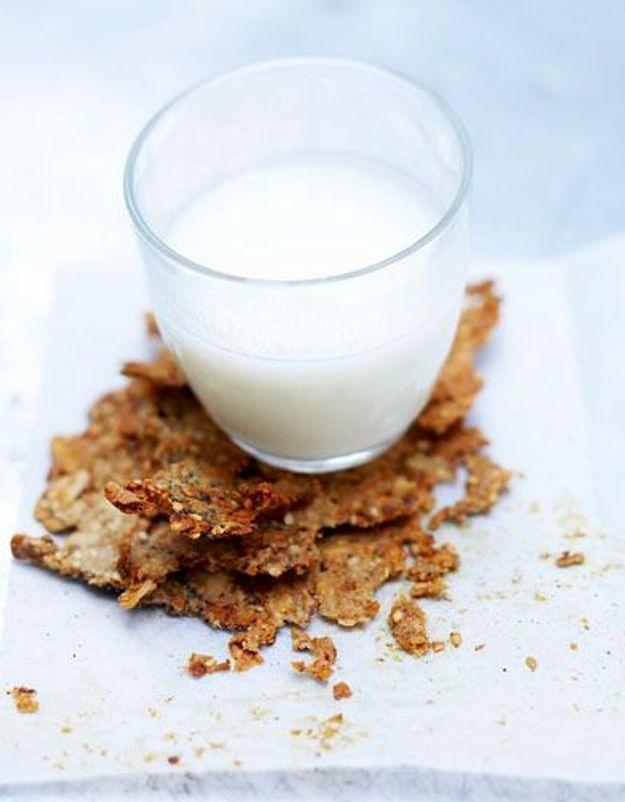 Galettes de granola et lait ribot