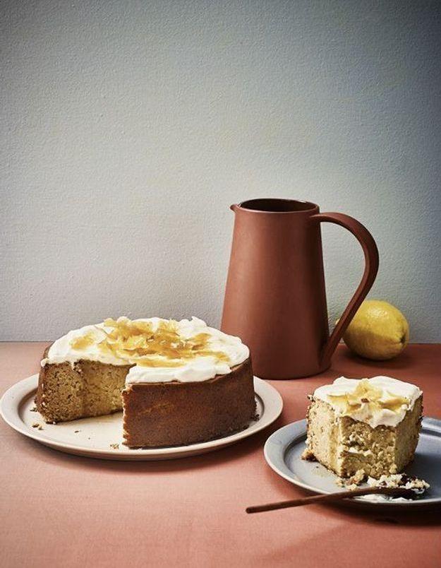 Gâteau haricots blancs, citron, et yaourt grec de brebis