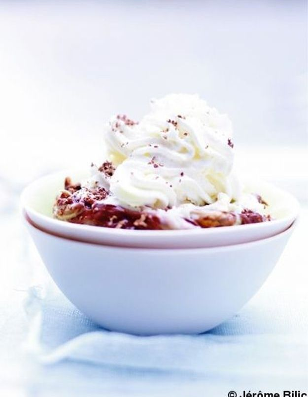 Glace nocciolata et chantilly