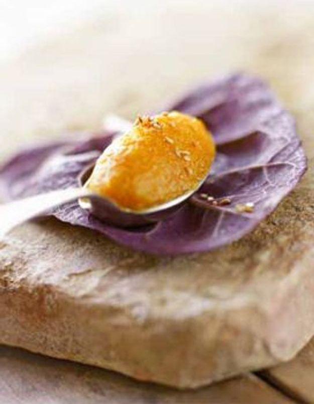 Mousseline de carottes à l'orange