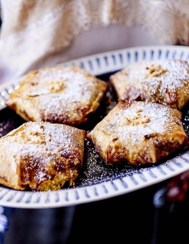Pastillas poulet, oeufs et amandes