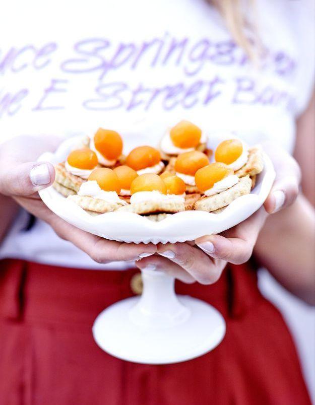 Petits-beurre sans gluten, mascarpone et melon