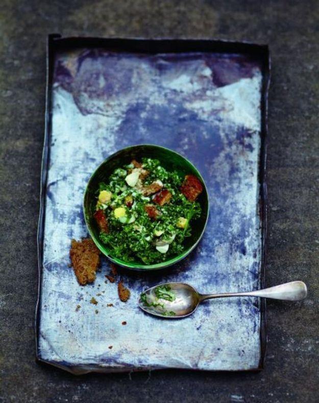 Salade caesar au kale