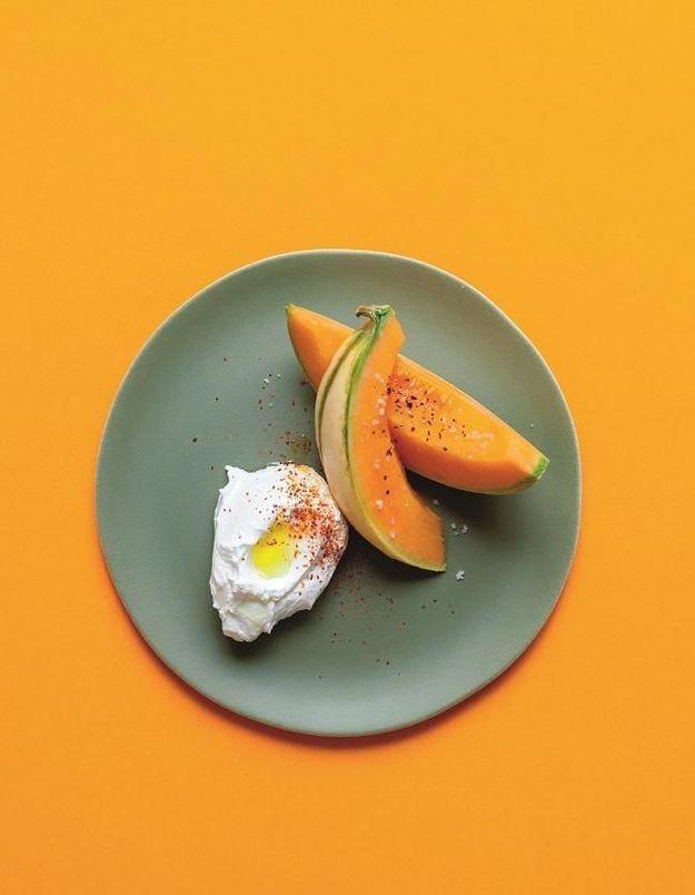 Salade de melon et labneh