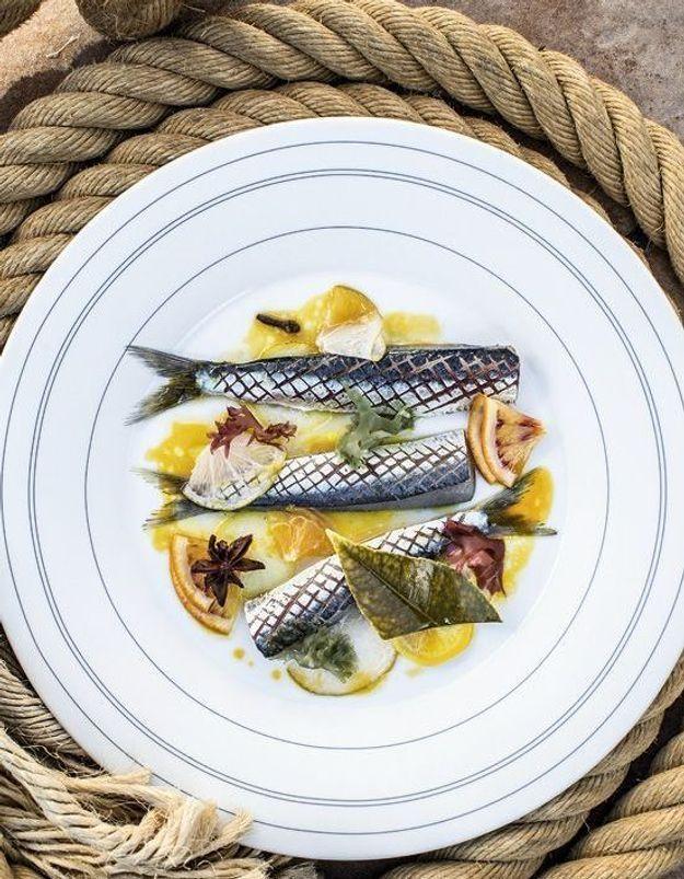 Sardines de Saint-Gilles aux algues et agrumes