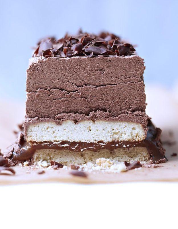 Shortbread, salidou et mousse chocolat