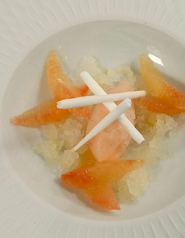 Sorbet champagne pamplemousse d'Amandine Chaignot
