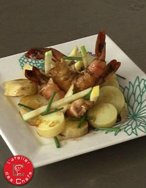 [VIDEO] L'atelier des Chefs : pommes grenaille et pommes fruit in salada, crevettes