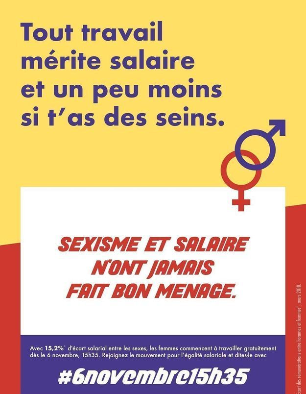 #6novembre15h35 : les Françaises dénoncent de nouveau les inégalités de salaire