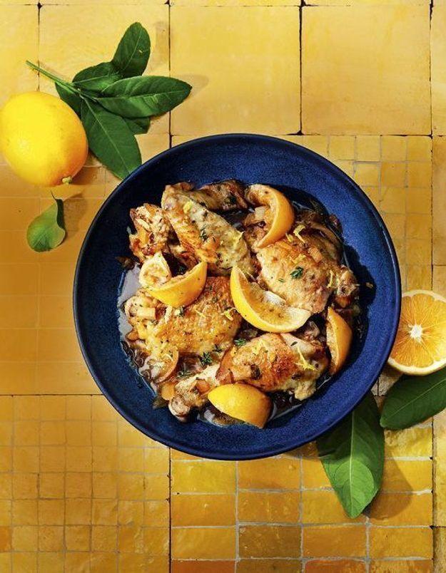 Cocotte de poulet aux trois citrons