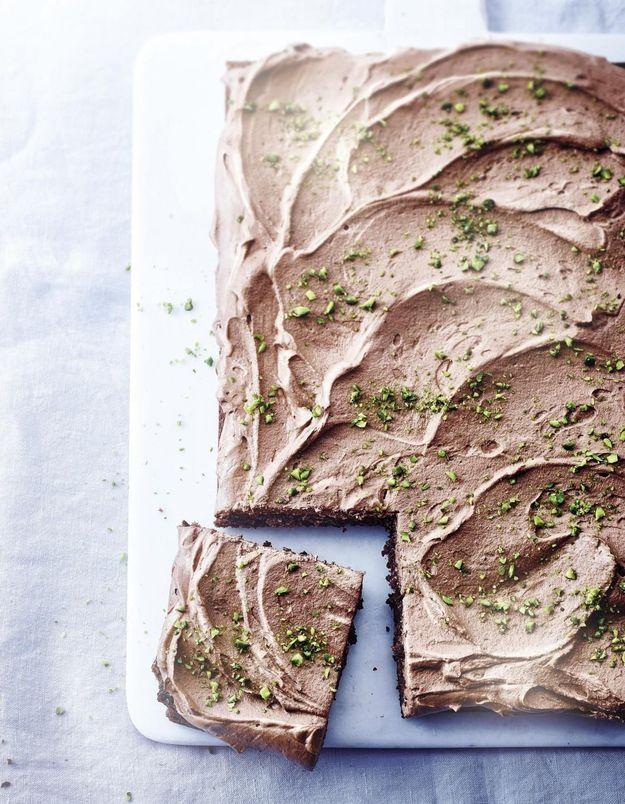 Gâteau + mousse chocolat