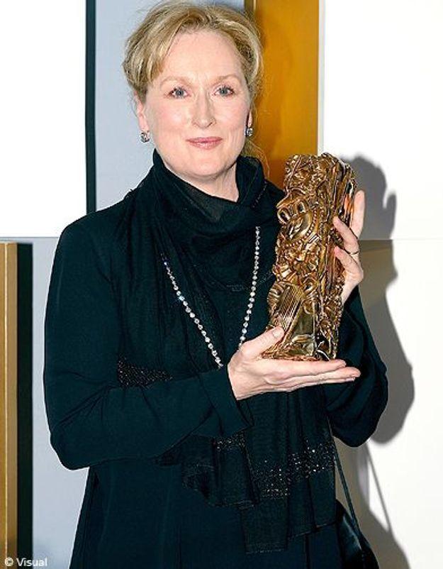 Meryl streep et son César d'honneur en 2003