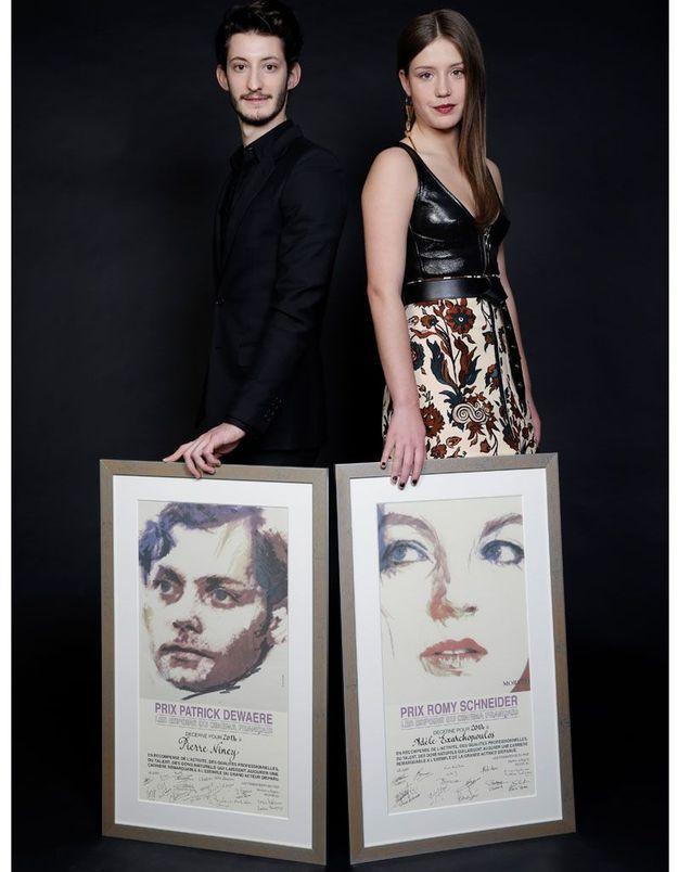 Adèle Exarchopoulos et Pierre Niney, lauréats 2014 des prix Romy Schneider-Patrick Dewaere