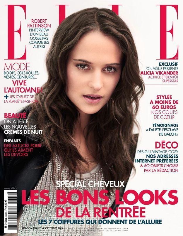 alicia vikander en couverture de elle cette semaine elle. Black Bedroom Furniture Sets. Home Design Ideas