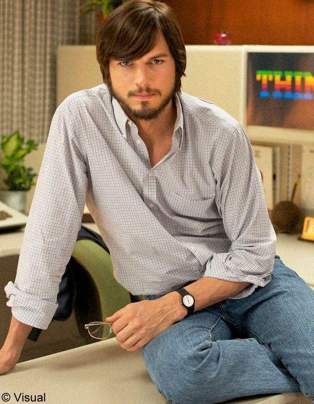 Ashton Kutcher métamorphosé en Steve Jobs