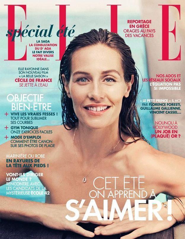Cécile de France en couverture de ELLE cette semaine
