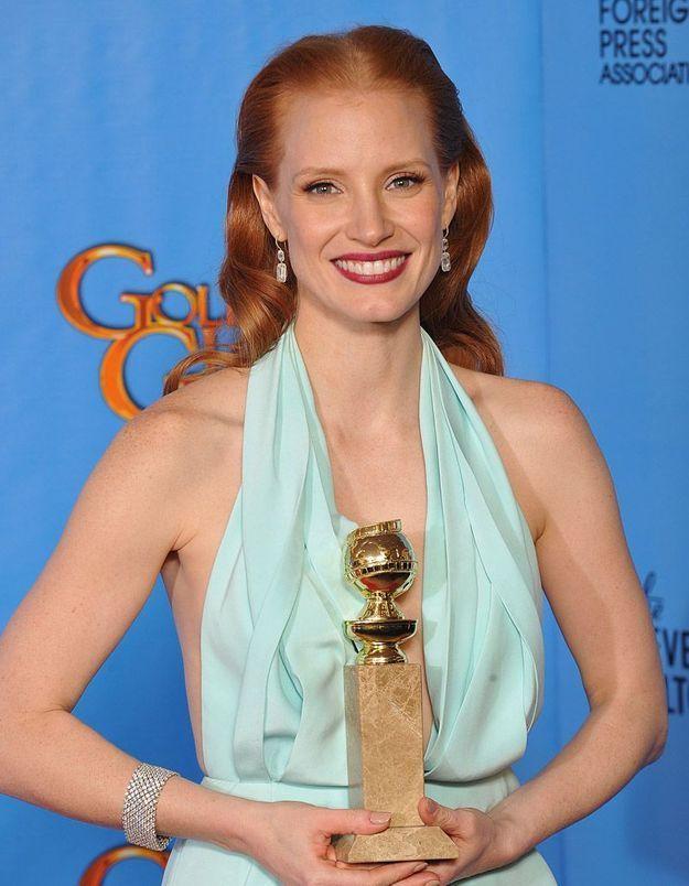 Golden Globes : Jennifer Lawrence et Jessica Chastain reines de la soirée !