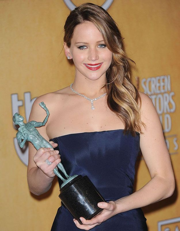 Jennifer Lawrence récompensée aux SAG Awards