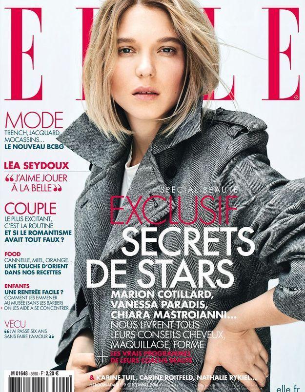 Léa Seydoux : l'affranchie timide en couverture du ELLE