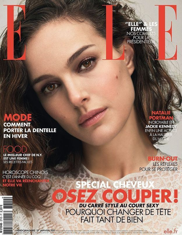 natalie portman en couverture de elle cette semaine elle. Black Bedroom Furniture Sets. Home Design Ideas
