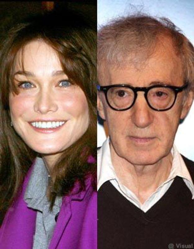 Woody Allen : c'est compliqué de faire tourner Carla Bruni !
