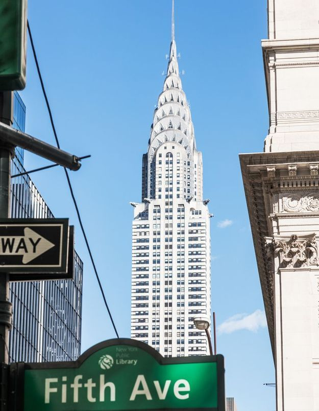 Le Chrysler Building à New York, aux Etats Unis